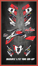 Suzuki LTZ 400 09 and newer ATV sticker kit Semi Custom Service DETOX1