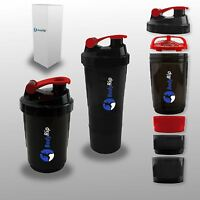 BodyRip 500ml PROTEIN SHAKER BOTTLE CUP COMPARTMENT NUTRITION MIXER ⋐RED⋑
