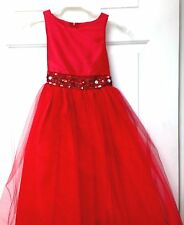 NWT Red flower Girl/special occasion dress size 8