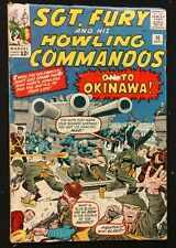 SGT.FURY HOWLING COMMANDOS #10 1964 SOLID VG ON TO OKINAWA !!