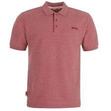 New Slazenger Men's Cotton Polo Shirt Tennis Golf Sport Casual  S - 4XL Burgundy