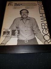 Roger Whittaker Voyager Tour Rare Original Promo Poster Ad Framed!