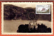 1977 - Fdc carte - 1°Jour - Annecy - Chateau Duingt - Timbre Yt.1935