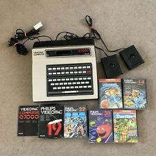 Phillips G7000 Video Pac Computer System - W/ Games Bundle - Tested & Working