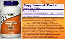 L-ARGININE NOW FOODS Amino Acid Nitric Oxide Double Strength 1000 Mg 120 Tablet