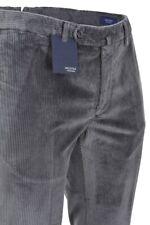 Incotex Pantalon - Homme 50 Slim Fit Gris Sombre Cotton Corde  automne-hiver col