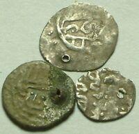 Lot of 3 Rare Original Ottoman Empire Turkey Silver akce pendant Coins AKCHE 15C