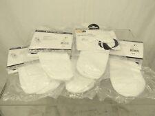 Lot of 5 pairs Pearl Izumi Men's Attack No Show Socks, White, Medium