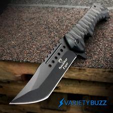 "BLACK SPRING ASSISTED OPEN POCKET KNIFE | 8.75"" Folding Tactical Tanto Blade NEW"