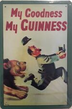 NEW Vintage Style Tin Metal Sign MY GOODNESS MY GUINNESS Home Décor Beer Replica