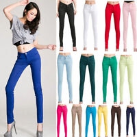 Women's Pull-On Stretch Skinny Legging Pants Denim Jean Pencil Pants Trousers US