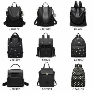 UK Fashion Ladies Girls Backpack School Bag Travel Rucksack Women Shoulder Bag