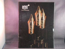 Mont Blanc Fountain Pen Vintage 1985 Full Line Catalog