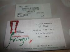 LUKA BLOOM - EDINBURGH / GLASGOW CONCERT TICKETS x 2 (1995 + 1998).