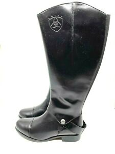 Ariat NEW Womens Hunter & Chap Black with Black Chap Leather Boots Size 6.5