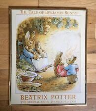 Beatrix Potter Print The Tale Of Benjamin Bunny 1989 Graphic Impressions Vintage