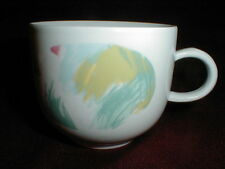Kahla German GDR Green Yellow Pink Brushstrokes Porcelain Cup (loc-big)