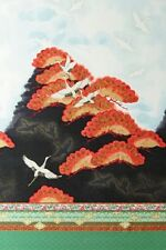 Imperial Collection 10 Japanese Cranes Vintage Quilting Fabric - Robert Kaufman