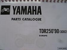 YAMAHA TDR 250 3CK2 90 PARTS LIST MANUAL CATALOGUE 103CK-300E1 YPVS.