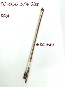 Symphony FC-050 3/4 Size Cello Bow–Brazil-wood, Octagonal Stick, Real Horse Hair