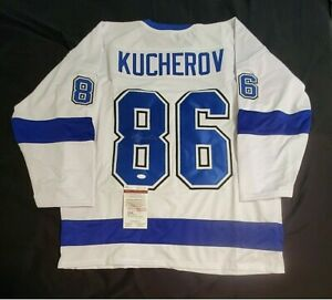 Lightning NIKITA KUCHEROV Signed Autographed hockey Jersey JSA COA size XL