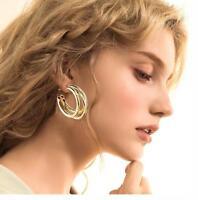 Fashion Geometric Statement Circle Metal Earrings Stud Earrings Women's Jewelry