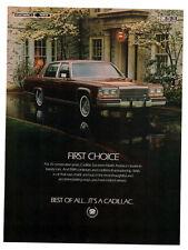 1984 CADILLAC Vintage Original Print AD Brown car photo first choice luxury cars