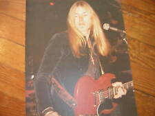 Greg Allman Photo Unpublished Original Early 70'S 11X14 Vintage Allman Bros
