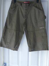 Roxy Quiksilver ladies 3/4 length trousers in Olive green size 10/12