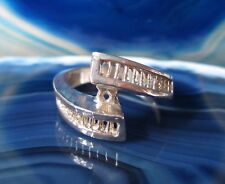Ring Journey Silberring Band rechteckige Muster Silber 925 Größe 15,9 mm