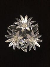 New ListingSwarovski Silver Crystal Maxi Flower Arrangement - Retired
