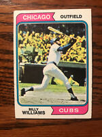 1974 Topps #110 Billy Williams Baseball Card Chicago Cubs HOF Raw