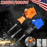 3600W/2200W Demolition Jack Hammer Electric Concrete Breaker Punch 2Chisel Bits.