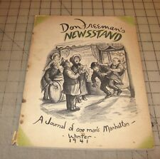 Don Freeman's NEWSSTAND Vol 1 #1 (Winter 1941) Good+ Condition Cartoon Magazine