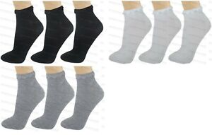 3 Pairs Ladies Lace Top Plain Ankle Socks Womens Girls Frilly Trim Trimmed 4-7