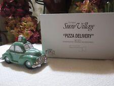 Department 56 Snow Village Pizza Delivery Car 1 Figure Original Box 54866