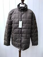 COLE HAAN  Mens Coat Jacket Large Puffer Style Padded Brown Zipped Genuine Lined