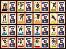 1982-83 Post Cereal Winnipeg Jets Dale Hawerchuk NHL Hockey Mini Card Set of 16