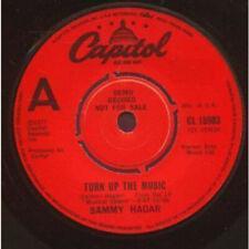 "SAMMY HAGAR Turn Up The Music 7"" VINYL UK Capitol Original Demo B/W Straight"