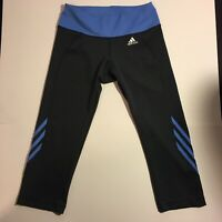 Adidas Women's Gray/Blue Activewear Capri Leggings Size (Medium)