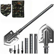 23 in 1 Military Folding Shovel Survival Multi Tools Tactical Spade Camping Tool