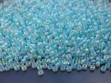 250g 9278 Lined Sky Blue AB Miyuki Japanese Seed Beads Round Size 8/0 3mm WHOLES