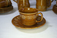 Vintage Lord Nelson - Brown Duo Cup and Saucer Celtic Design