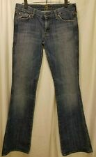 "7 For All Mankind Jeans Womens Size 12 (33x34) 'A Pocket' 8"" Rise Sandblasted"