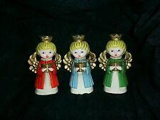 Set of Vintage Angel  Ceramic  Christmas  Candle Holders