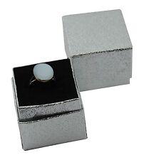 Carta stagnola argento gioielli anello Presentazione Box 4.5cm x 4.3cm x 4cm di profondità