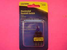 "CALTERM ILLUMINATED BLUE DUCKBILL TOGGLE ROCKER SWITCH 12V 1/2"" HOLE SIZE 20 AMP"