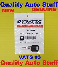 OEM NEW GM Single Sided VATS Chip Key #3 595513 26019393 UNCUT 0.681 K-Ohms