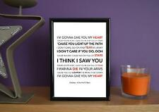 Framed - Coldplay - A Sky Full Of Stars - Poster Art Print - 5x7 Inches