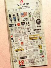 Cute New York Diary NYC Scrapbook Stickers kawaii